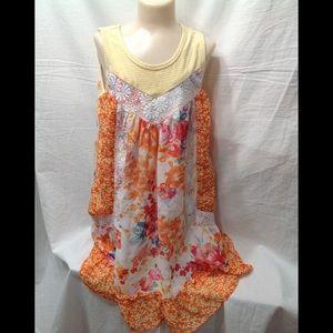 Girl's size 5 JONA MICHELLE bright floral dress